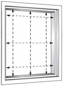 Messen rechteckige fenster for Fenster messen